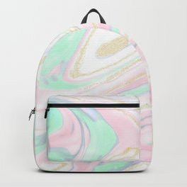 Classy marbleized abstract design Backpack