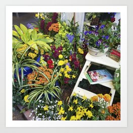 Always good to have a few flowers around the kitchen! Art Print