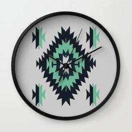 Santa Fe Southwestern Native Indian Tribal Geometric Pattern Wall Clock