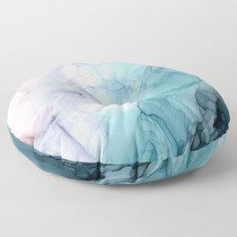 Beachy Pastel Flowing Ombre Abstract Flip Floor Pillow