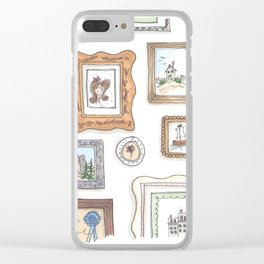 Whimsical Gallery Wall Clear iPhone Case