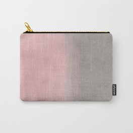 Gradient watercolor pink-gray Carry-All Pouch