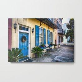 Traditional Houses of Rainbow Row, Charleston Metal Print