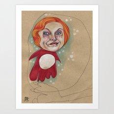 PONYO'S BUBBLE Art Print
