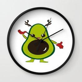 Cute Kawaii Avocado  Wall Clock