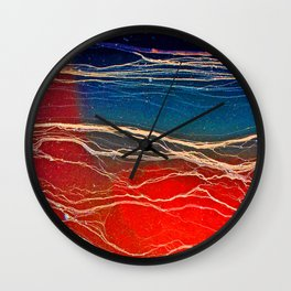 Sensational Scarlet  Wall Clock