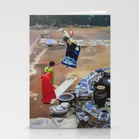 korean Stationery Cards featuring Korean Seesaw by Robert S. Lee Art