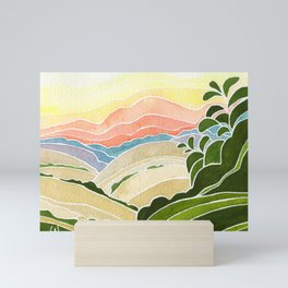 East Bay Devil Mountain in Summer Mini Art Print