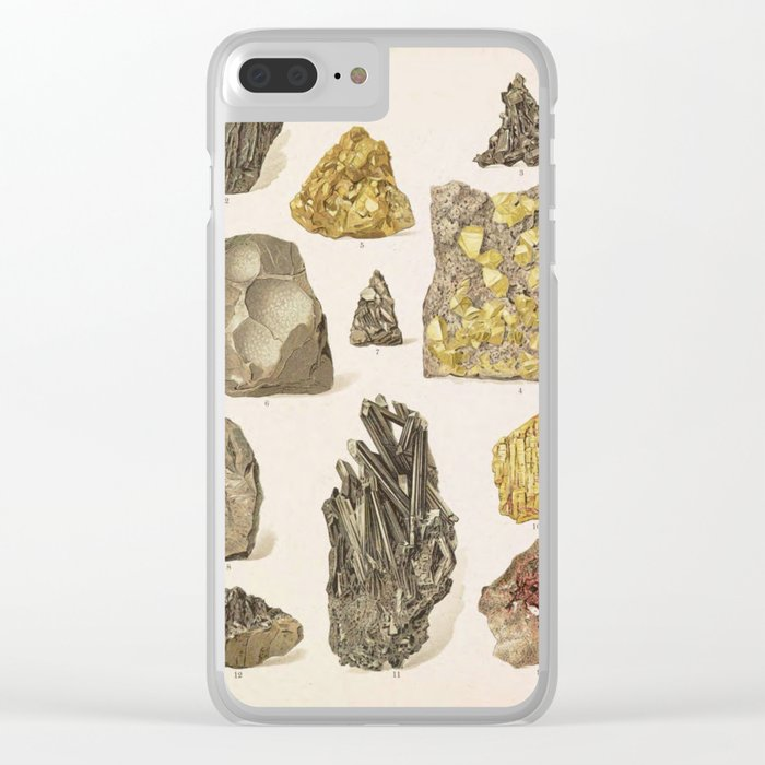 Vintage Gold Minerals Clear iPhone Case
