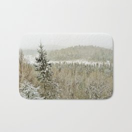 Winter Wilderness Bath Mat