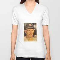 larry V-neck T-shirts featuring Larry Jackson by Meg Rust. Mly Designs