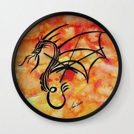Flame Dragon Wall Clock