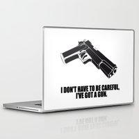 gun Laptop & iPad Skins featuring gun by muffa