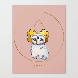 Baby Zodiac Collection - Aries Canvas Print
