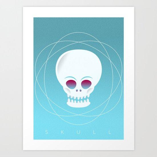 VECTOR SKULL Art Print