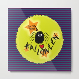 Hairy Boris Loves Halloween! Metal Print