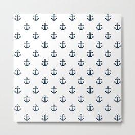 Navy Anchors Metal Print