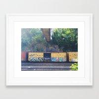grafitti Framed Art Prints featuring grafitti  by Mallory Powers