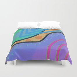 Colorful Abstract Art Digital Painting  Duvet Cover