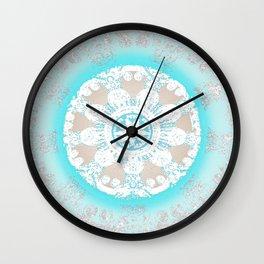 Soft Peace Aqua Mandala Wall Clock