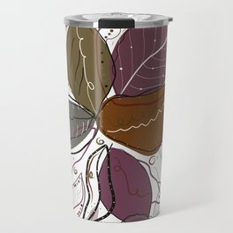 Active Wear Abstract Leaves Pattern Travel Mug