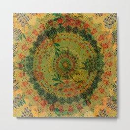 Aztec Mandala Metal Print