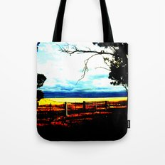 Storm clouds over wheat Fields Tote Bag