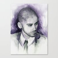 zayn Canvas Prints featuring zayn  by Seefirefly