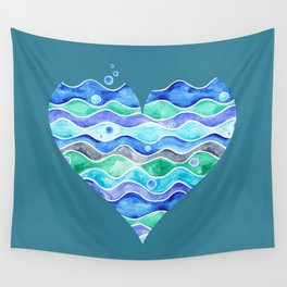 A Sea of Love (blue) Wall Tapestry