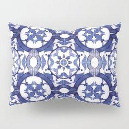 Portuguese Tiles Azulejos Blue and White Pattern Pillow Sham