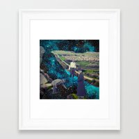 river Framed Art Prints featuring River by Cs025