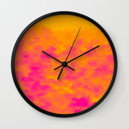 Rainstorm in a Rainforest During the Fall of the Sun Wall Clock