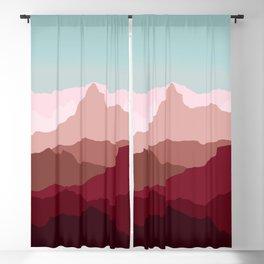 Red Mountain Range Blackout Curtain