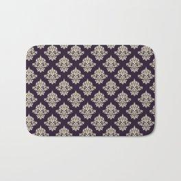 Purple Vintage Skull Pattern Bath Mat