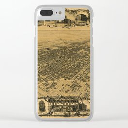 Map of Stockton 1895 Clear iPhone Case