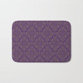 Purple and Gold Bandhani Bandhej Indian Sari Print Bath Mat