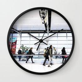 airport hurry Wall Clock