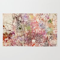minneapolis Area & Throw Rugs featuring Minneapolis by MapMapMaps.Watercolors