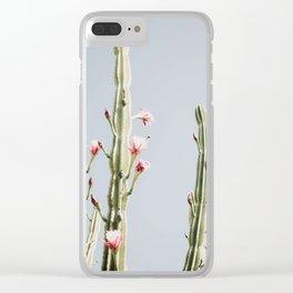 Cereus Cactus Blush Clear iPhone Case