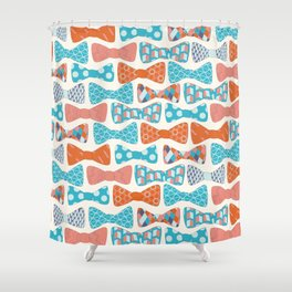 Geometric Bows Shower Curtain