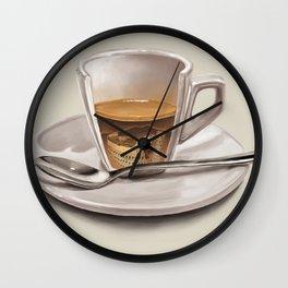 Italian coffee Wall Clock