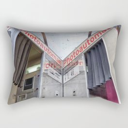 Two old photo booth in Berlin, Germany Rectangular Pillow