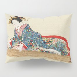 Japanese Lady Playing the Koto Pillow Sham