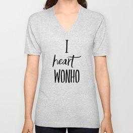 I Heart Wonho - Monsta X (Design 2) Unisex V-Neck