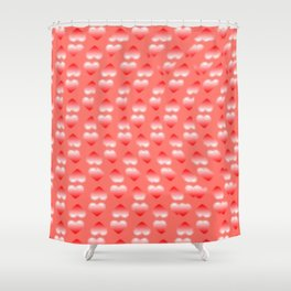 Hearts pattern and stereogram - See the hidden 3D image! Shower Curtain