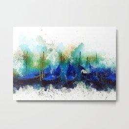 Venice Gondola painting Metal Print