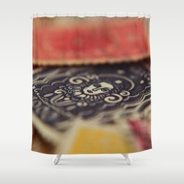 Macro Stamps Shower Curtain