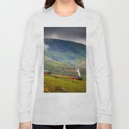 Steam Trains To The Summit Long Sleeve T-shirt