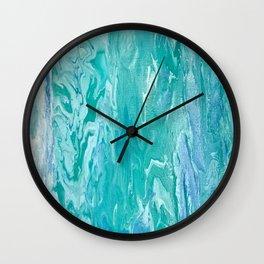 Ocean Wave Painting by Tamara Jay Wall Clock