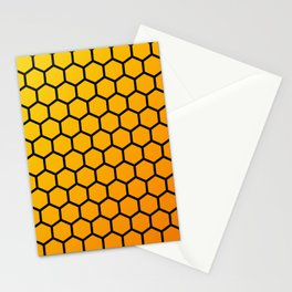 Yellow and orange honeycomb pattern Stationery Cards